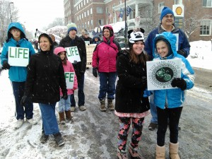 BFR Contingent March for Life 1-16-2015 Photo by Bob Orleck