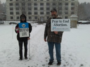 Pray to end abortion!  March for Life 1-16-2015 Photo by Bob Orleck